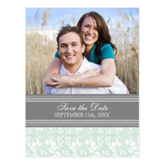 Mint Photo Save the Date Wedding Postcards