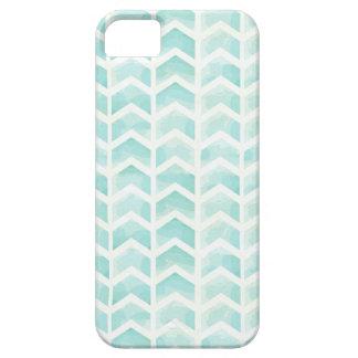Mint pie Green Watercolor Chevron Arrows iPhone 5 Case