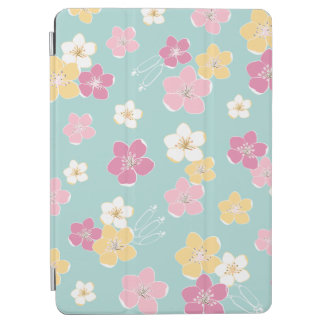 Mint pink exotic hawaii flowers to surfer ipad iPad air cover