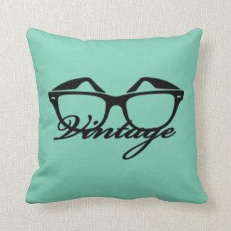 Mint/Pink Vintage Throw Pillow