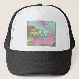 Mint pint colorful oil abstract gentle kind trucker hat