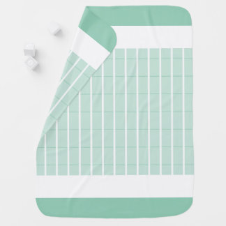 Mint-Plaid-Accent's-Baby-Blanket-Two-Sided Swaddle Blanket