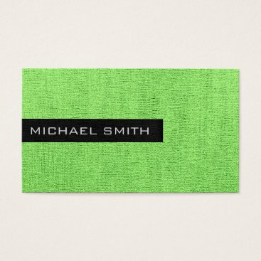 Professional Business Mint Plain Elegant Monogram Business Card