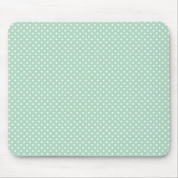 Professional Business Mint Polka Dot Mouse Mat