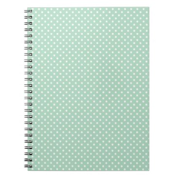 Professional Business Mint Polka Dot Notebook