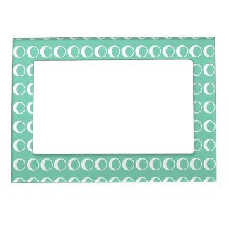 Mint Polka Dot Retro Magnetic Frame