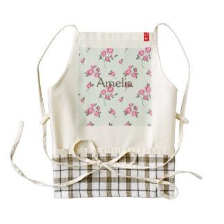 mint,polka dot,roses,shabby chic,pattern,girly,tre zazzle HEART apron