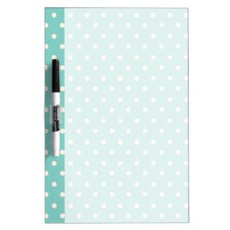 Mint Polkadots Dry Erase Board
