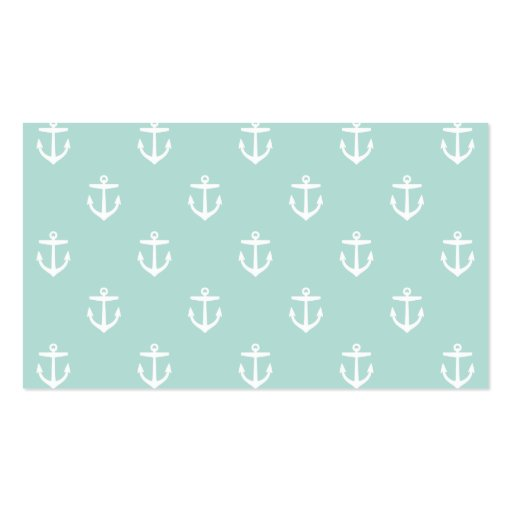 Blank business card template mint preppy anchors blank business card template zazzle colourmoves