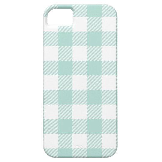 Mint Preppy Buffalo Check Plaid iPhone SE/5/5s Case