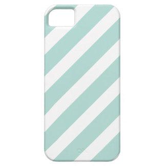 Mint Preppy Nautical Diagonal Stripes iPhone SE/5/5s Case