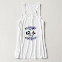Mint & Purple Floral Wreath Wedding Bride Tank Top