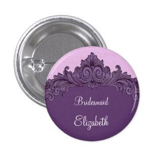 Mint Purple Vintage Bridesmaid Button