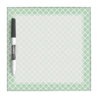Mint Quatrefoil Dry-Erase Board