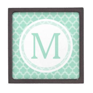Mint Quatrefoil Gift Box