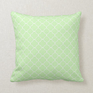 Mint Quatrefoil Pattern Decorative Pillow