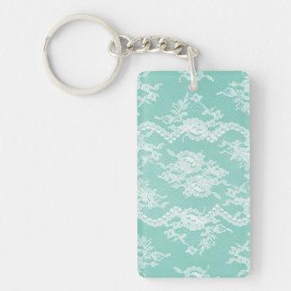 Mint Romantic Lace Acrylic Keychain