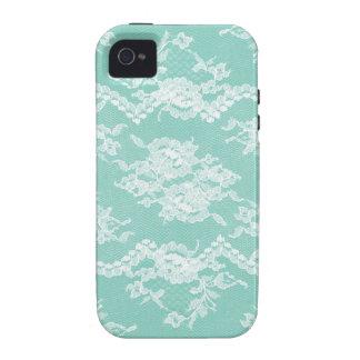 Mint Romantic Lace iPhone 4 Case
