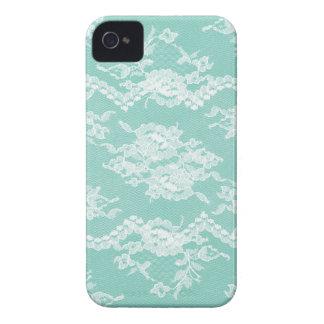 Mint Romantic Lace Blackberry Cases