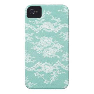 Mint Romantic Lace Case-Mate iPhone 4 Cases