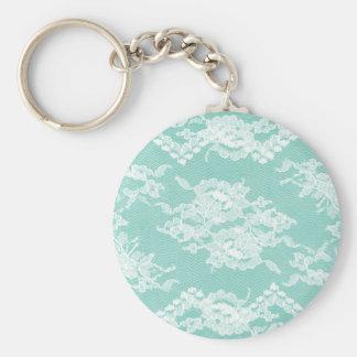 Mint Romantic Lace Keychain