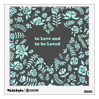 Mint Rose Wall Decal