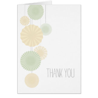 Mint Rosettes Thank You Card