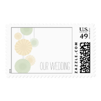 Mint Rosettes Wedding Postage Stamps