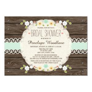 MINT RUSTIC FLORAL BOHO BRIDAL SHOWER INVITATIONS 5