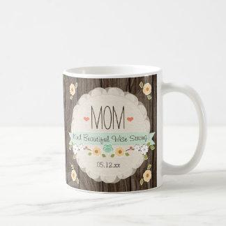 Mint Rustic Floral Mom Mother's Day Keepsake Mug