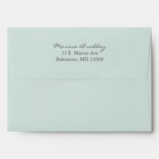 Mint Rustic Monogram Wreath Invitation Envelope