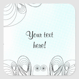 Mint rustic vintage background with halftones square sticker