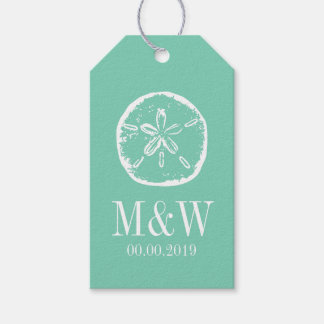 Minted Wedding Gift Tags : Mint sand dollar beach wedding favor gift tags