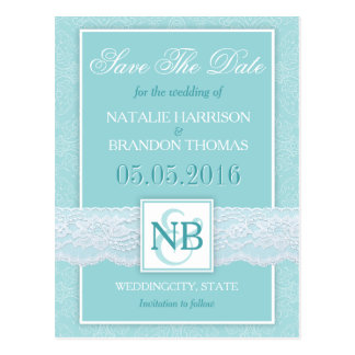 Mint Save The Date postacards Mint wedding Postcard