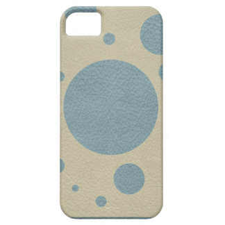 Mint Scattered Spots on Stone Leather Texture iPhone SE/5/5s Case