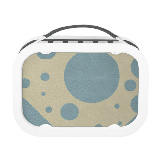Mint Scattered Spots on Stone Leather Texture Yubo Lunch Box