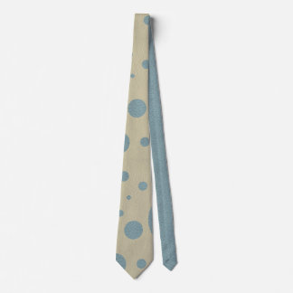 Mint Scattered Spots on Stone Leather Texture Tie