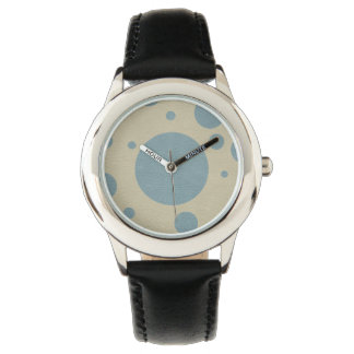 Mint Scattered Spots on Stone Leather Texture Wrist Watches