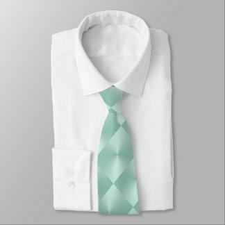 Mint Shimmer Blocks Neck Tie