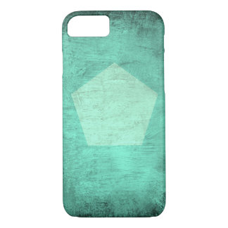 Mint Smudge with Pentagon - Phone Case