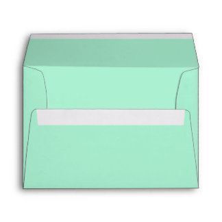 Mint Solid Color Envelope