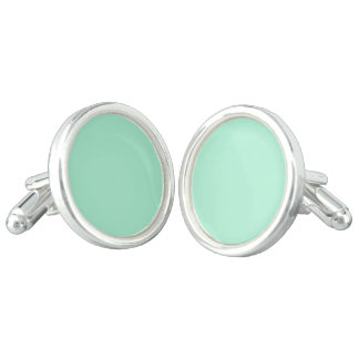 Mint Solid Color Cufflinks
