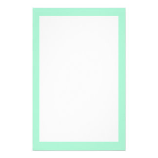Mint Solid Color Stationery