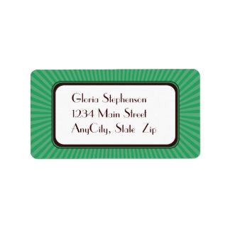 Mint Spring Rays Address Labels
