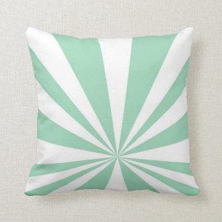 Mint Starburst Throw Pillow