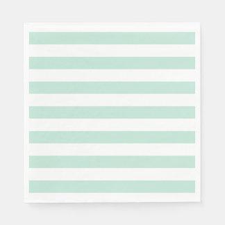 Mint stripe napkin