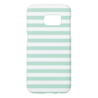 Mint stripe samsung galaxy s7 case
