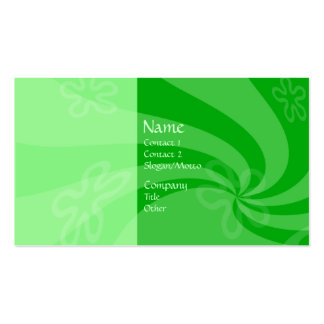 Mint Swirl Double-Sided Standard Business Cards (Pack Of 100)