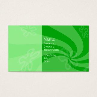 Mint Swirl Business Card