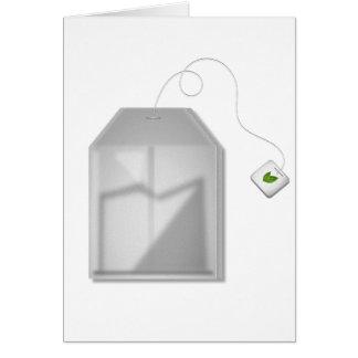 Mint Tea Bag Greeting Cards